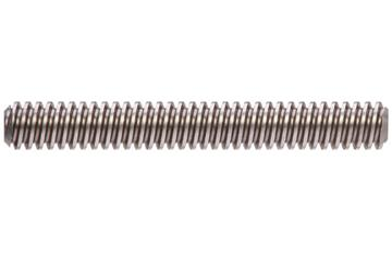 drylin® trapezoidal lead screw, left-hand thread, two start, C15 1.0401 steel