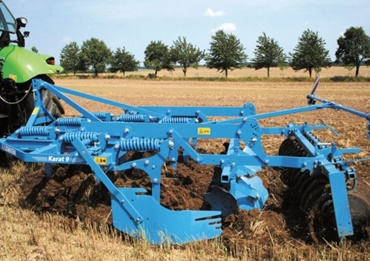 Cultivator in the field